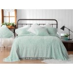 KALIA SOFT BLUE QUEEN SIZE BEDSPREAD (BY BIANCA)  3 PCS  $210.00