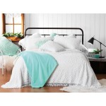 KALIA WHITE QUEEN SIZE  BEDSPREAD SET (BY BIANCA) 3PCS    $210.00