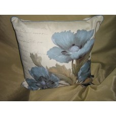 POPPY CUSHION BLUE 45X45CM
