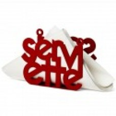 S & P  Napkin Holder  Red